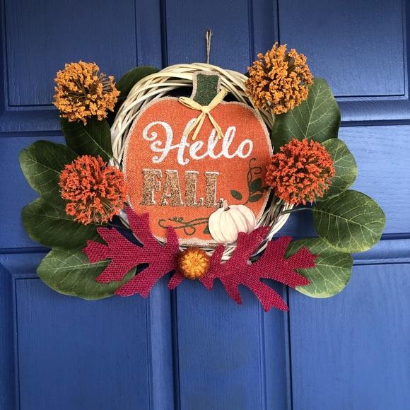 Holiday Hello Fall Wreath Poshmark